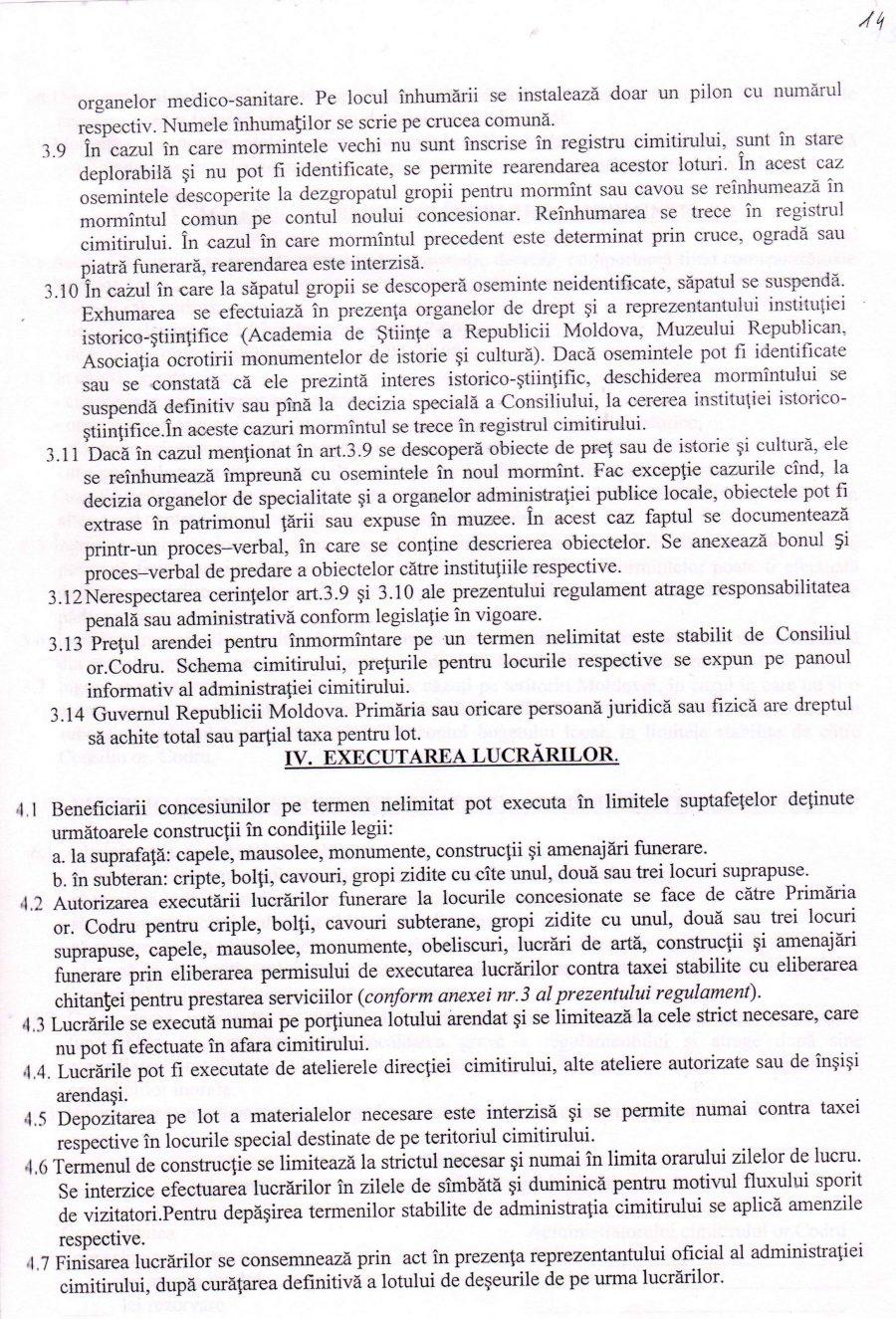 Acte Necesare CIMITIR (Regulamente)